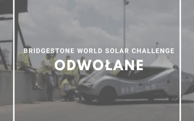 Bridgestone World Solar Challenge Odwołany