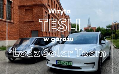 Wizyta TESLI w garażu Lodz Solar Team